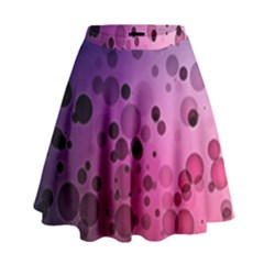 Circles Surface Light  High Waist Skirt