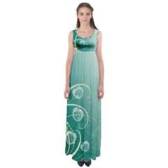 Patterns Plants Light  Empire Waist Maxi Dress
