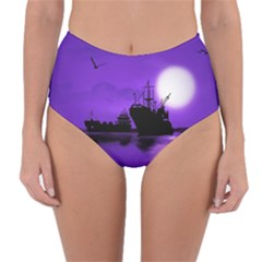 Open Sea Reversible High Waist Bikini Bottoms