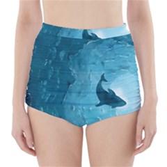 Shark High Waisted Bikini Bottoms