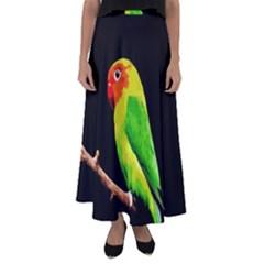 Parrot  Flared Maxi Skirt