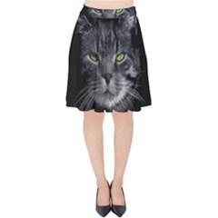 Domestic Cat Velvet High Waist Skirt