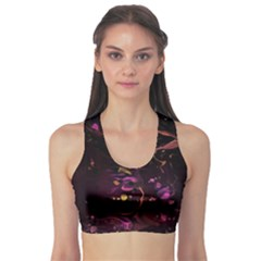 Abstraction Shadow Light Sports Bra