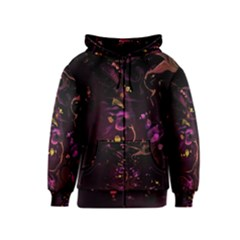 Abstraction Shadow Light Kids  Zipper Hoodie