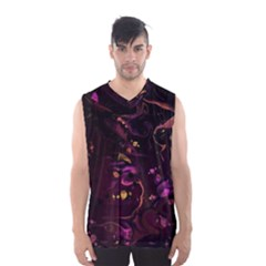 Abstraction Shadow Light Men s Basketball Tank Top