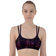 Abstraction Shadow Light Line Them Up Sports Bra