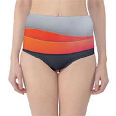 Line Shape Light  High Waist Bikini Bottoms