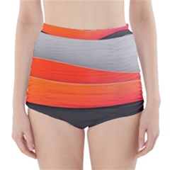 Line Shape Light  High Waisted Bikini Bottoms