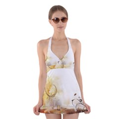Patterns Nature Style  Halter Swimsuit Dress