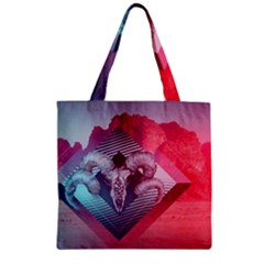 Horns Background Cube  Zipper Grocery Tote Bag