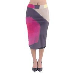 Allen Form Light  Midi Pencil Skirt