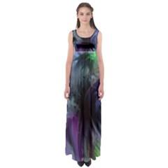 Brush Paint Light  Empire Waist Maxi Dress