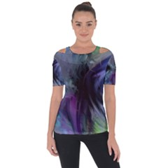 Brush Paint Light  Short Sleeve Top