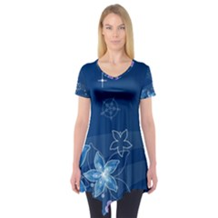 Abstraction Pattern Color  Short Sleeve Tunic