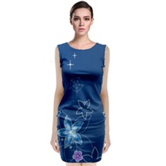 Abstraction Pattern Color  Classic Sleeveless Midi Dress