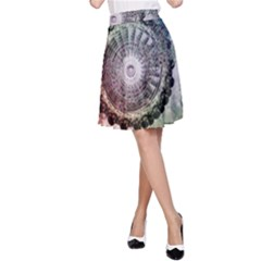 Circle Figures Background  A Line Skirt
