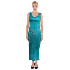 Volume Pattern Abstract Fitted Maxi Dress