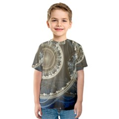 2299 Circles Light Gray 3840x2400 Kids  Sport Mesh Tee