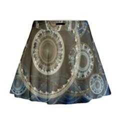 2299 Circles Light Gray 3840x2400 Mini Flare Skirt