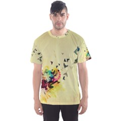 2398 Flight Sky Butterflies 3840x2400 Men s Sports Mesh Tee