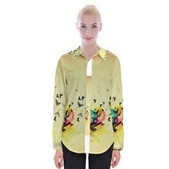 2398 Flight Sky Butterflies 3840x2400 Womens Long Sleeve Shirt