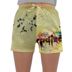 2398 Flight Sky Butterflies 3840x2400 Sleepwear Shorts