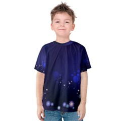 2443 Flowers Background Dark 3840x2400 Kids  Cotton Tee