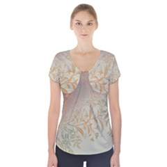 2349 Pattern Background Faded 3840x2400 Short Sleeve Front Detail Top