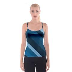 2435 Line Gray Blue 3840x2400 Spaghetti Strap Top