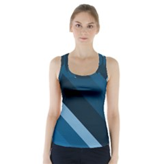 2435 Line Gray Blue 3840x2400 Racer Back Sports Top