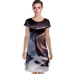 2272 Paper Paint Lines 3840x2400 Cap Sleeve Nightdress
