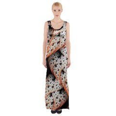 Dots Leaves Background  Maxi Thigh Split Dress