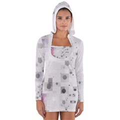 Squares Colorful Spots  Long Sleeve Hooded T Shirt