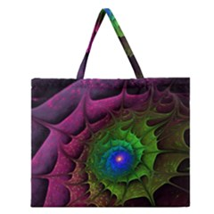 Immersion Light Color  Zipper Large Tote Bag