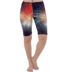 Plexus Background Colorful  Cropped Leggings