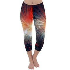 Plexus Background Colorful  Capri Winter Leggings