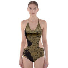 Witchcraft Vintage Cut Out One Piece Swimsuit