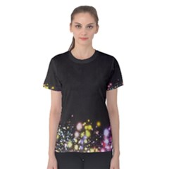 Spots Colorful Bright  Women s Cotton Tee