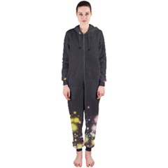 Spots Colorful Bright  Hooded Jumpsuit (ladies)