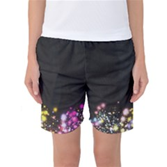 Spots Colorful Bright  Women s Basketball Shorts