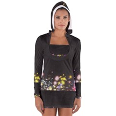 Spots Colorful Bright  Long Sleeve Hooded T Shirt