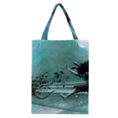 Running Abstraction Drawing  Classic Tote Bag