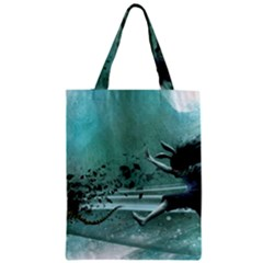 Running Abstraction Drawing  Zipper Classic Tote Bag