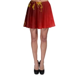 Fire Effect Background  Skater Skirt