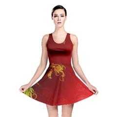 Fire Effect Background  Reversible Skater Dress