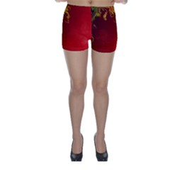 Fire Effect Background  Skinny Shorts