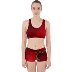 Fire Effect Background  Work It Out Sports Bra Set