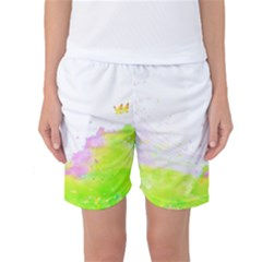 Paint Spray Field  Women s Basketball Shorts