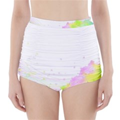 Paint Spray Field  High Waisted Bikini Bottoms