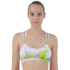 Paint Spray Field  Line Them Up Sports Bra